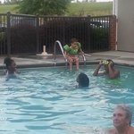 The Kids loved the pool...and I think that lady loved it!