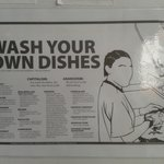 Wash your own dishes :)