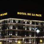 Hotel de la Paix at night