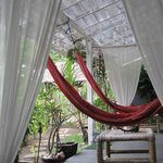 hammocks in front of the bedroom
