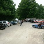 Visiting classic car rally