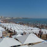 Les Sables beach - crazy at the weekend!