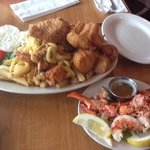 lobster and seafood platter for two