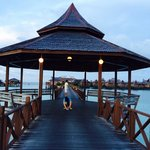 Long entrance to SMART water bungalow