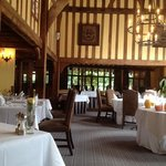 the beautiful main restaurant at The Swan