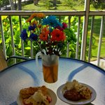 Breakfast on the lanai @ Tortuga Beach Club!