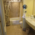 Bathroom attached to our king room w/balcony