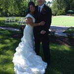Our wedding in the formal garden