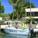 The marina was the first Green Certified marina in the keys. Room for maybe four under 30' boats