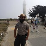 Ranger Joe & the lighthouse in the background