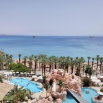 view of Red Sea and beach from room
