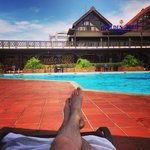Poolside at the Golden Tulip, Accra