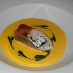 Goat Cheese Stuffed Loin of Rabbit