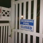 Pool closes early than posted operating hour daily