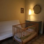 Baby Cot and Bedding Provided