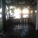 From the deck of one of the beach bungalows