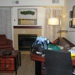 Living area of 2 bedroom suite