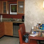 Kitchen area of 2 bedroom suite