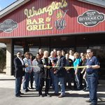 Ribbon cutting for the grand re-opening after the fire and smoke that damaged the entire restaur