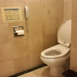 Toilet with bidet in superior room