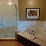 Big bathroom with jetted soaker tub