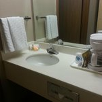 small sink area