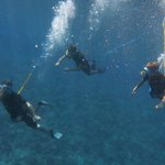 my sons and I snuba diving at Molokini