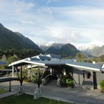 View at the reception of Scenic Hotel Franz Josef Glacier
