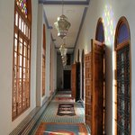 Light-filled hallways leading to rooms