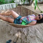 Me enjoying the native hammock