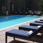 Poolside service to your lounge chairs by outdoor pool