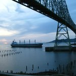 Tanker approaching the Astoria-Megler Bridge