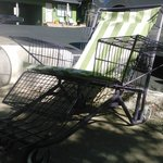Shopping cart turned lounge chair!