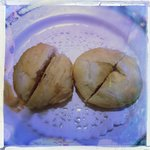 Left-Peanut Paste Pastry Right-Red Bean Paste Pastry