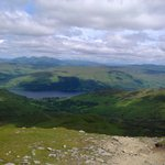 Looking down on Loch Earn from Ben Vorlich