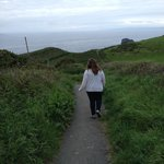 Hiking the Coastal Path, a few hundred yards from the B&B