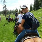 Enjoying a horse ride in Harriman State Park!