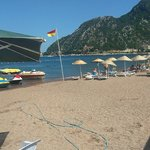Beautiful sandy beaches at Marmaris