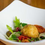 Oozing Soft Hen's Egg With Early Summer Pea Salad