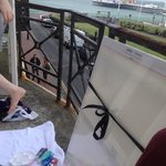 Painting on the balcony