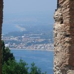 view from amphitheatre in Taormina