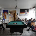 community room with pool table