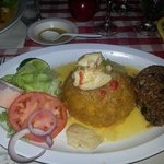 Campomar Restaurant across the street, excellent Mofongo and Sangria !