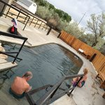 Recently, the town of Saratoga added a pump / filtering system and added a small pool maintained