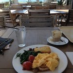 Breakfast with ocean views
