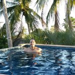 Taking a dip in the cool Palapas pool!