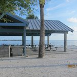 picnic shelter and tables