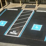 Additional handicap parking spaces at front desk.