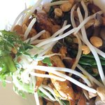 Chicken curry rice noodle bowl