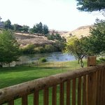 View of the Deschutes river from our balcony at Imperial River Company
